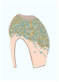 mcqueen shoe illustration