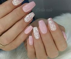 Pink Nail Art, Pink Nails, My Nails, Cute Nails, Black Nails, Cute Summer Nail Designs, Cute Summer Nails, Best Acrylic Nails, Sparkle Nails