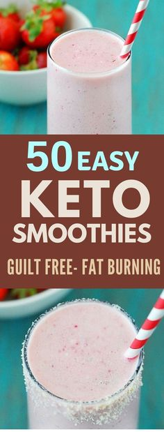 These Low Carb Keto Smoothie Recipes are Fast and Delicious. Enjoy them for breakfast, or as a dessert at the end of a meal. #keto #ketodiet #weightloss #ketorecipes