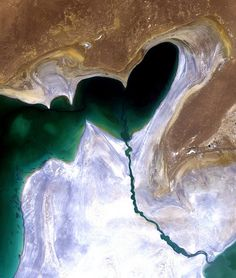 A heart in the South Aral Sea by europeanspaceagency