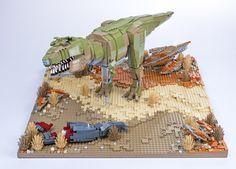 Dinosaur Diorama, Lego Dinosaur, Legos, Lego Animals, Lego Jurassic World, Cool Lego Creations, Lego Architecture, Lego Models, Tyrannosaurus