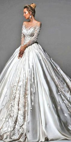 18 Disney Wedding Dresses For Fairy Tale Inspiration ❤ See more: http://www.weddingforward.com/disney-wedding-dresses/ #weddings #dresses