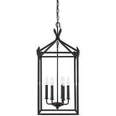 @Overstock - Update your decor with this contemporary hanging pendant light. Made of forged iron with a rust finish and featuring six candelabra-style bulbs, this pendant-style light will enhance any indoor setting with its warm light and classic, clean lines.http://www.overstock.com/Home-Garden/World-Imports-Hastings-Collection-6-light-Hanging-Pendant/6275754/product.html?CID=214117 CAD              299.12
