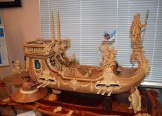 Model Ship Building, Wooden Ship, Model Ships, Baroque, Sailing, Lion Sculpture, Fair Grounds, Design Inspiration, Seahorses