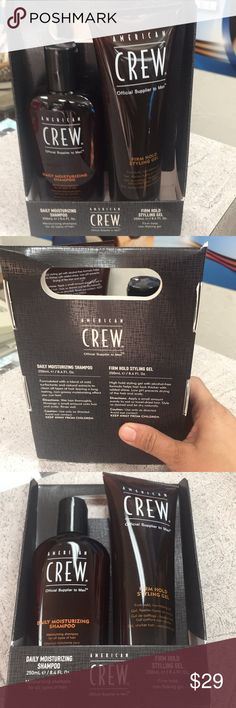 CREW BUNDLE brand new Daily Moisturizing Shampoo 8.4 oz and Firm Hold Gel  tube 8.4 oz both items never open brand new authentic no trades price is firm American Crew Other