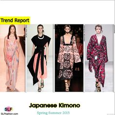 Japanese Kimono Trend for Spring Summer 2015. BCBG Max Azria, Marni, Alexander McQueen, and Aganovich #Spring2015 #Trends15 #SS15