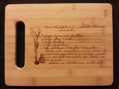 Custom engraved cutting board for Laura from from 3DCarving on Etsy