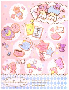 Sanrio Little Twin Stars Notebook in Folder