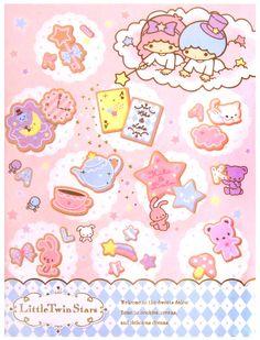 Sanrio Little Twin Stars Notebook in Folder
