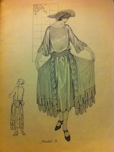 """1922 a spring/summer afternoon frock from """"Woman's Institute""""."""