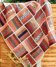 Quilting - make a Jelly Roll Rail Fence