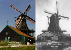 Can you see the differences between 1960 and 2014? #zaanseschans #windmill #holland #netherlands #nederland #dutch