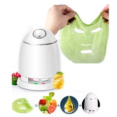 XHH Organic Face Mask Maker and Facial Steamer 3201A948 Multi-Function DIY Natural Fruit Vegetable Mask Maker, Hot Mist Moisturizing Personal Skin Care Beauty Tool * Details can be found by clicking on the image. (This is an affiliate link)