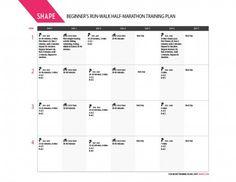 Half Marathon Training Schedule for Beginner Runners - Shape Magazine