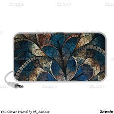 Foil Clover Fractal Laptop Speaker