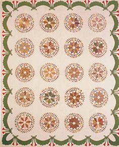 Farmer's Delight Quilt, 1870. Made by Frances Andes Harman. Rockingham Co, Virginia.