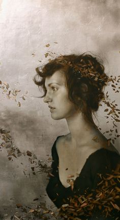 the paintings and artwork of brad kunkle. gold leaf artist and painter brad kunkle. Brad Kunkle, Portrait Art, Figure Painting, Figurative Art, Female Art, Muse, Art Photography, Street Art, Illustration Art