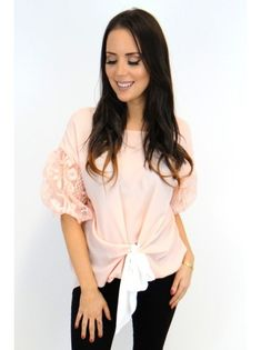 ccffbf2f828c17 Melanie Tie Top - Pink - Damson Boutique