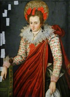 Portrait of an Unknown Lady.     Date painted: 1605–1610     Oil on panel, 105.2 x 76.1 cm     Collection: Museums Sheffield