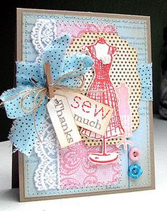 "Great idea for a ""sewing"" card"