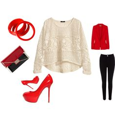 """RedLady"" by panikaki on Polyvore"