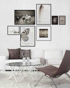Gallery wall idea. Keep it monochromatic or add some color...looking for one of a kind art photo print to create your own art wall? Visit bx3foto.etsy.com