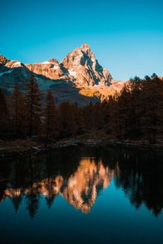 'Mountain And Lake' Canvas Print by Groppo - Beautiful places - Fotografia Hiking Photography, Landscape Photography Tips, Photography Jobs, Conceptual Photography, Digital Photography, Photography Backdrops, Mountain Photography, Photography Competitions, Photography Courses