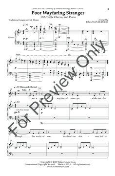 Poor Wayfaring Stranger (SSA) arr. Jonathan | J.W. Pepper Sheet Music