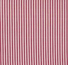 Ticking Stripe - Red Cream