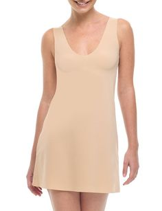 commando® — Mini Tank Slip: microfiber seamless layering dress slip