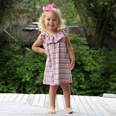 5/2/2013   Bright Striped Knit Flutter Dress