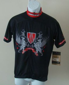Bontrager TREK Shield Cycling Jersey Size L Black Red Model #7751 #Bontrager