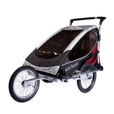 KIDS TOURING Fietsaanhanger Kids Racer S zwart/rood