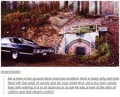 In a hole in the ground, there lived two brothers.  SPN and TH crossover :)