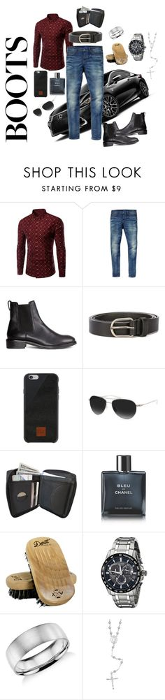 """""""Anniversary date"""" by vettec ❤ liked on Polyvore featuring Scotch & Soda, H&M, Dsquared2, Native Union, Barton Perreira, Chanel, Detroit Grooming Co., Citizen, Blue Nile and men's fashion"""
