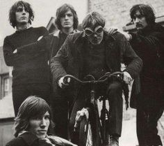 The members of Pink Floyd just being goofballs.