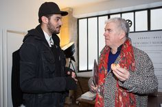 Aitor Throup & Tim Blanks (Style.com) at LONDON show ROOMS Paris Men AW13