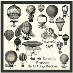 Hot Air Balloon Brushes by AllThingsPrecious