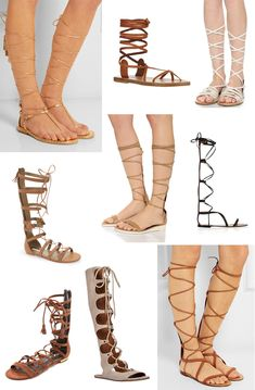 2 Super Easy DIY Leather Lace-up Gladiator Sandals