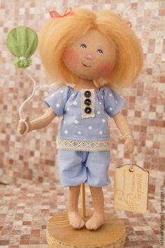 Купить текстильная кукла ручной работы - коллекционная кукла, интерьерная кукла…