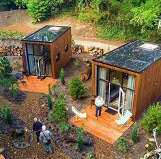 Would you live in our Tiny House community? Would you live in our Tiny House community? Building A Container Home, Container House Plans, Cargo Container, Container Store, Tiny Homes, New Homes, Tiny House Community, Casas Containers, Storage Containers