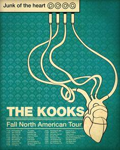 The Kooks, Junk of The Heart posters by Corina Rosca, via Behance