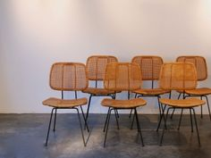 6 rotan Chairs | Polyedre