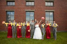 If a little cheering up after a long work week is what you crave then look no further than this colorful gem of a wedding by Michèle M. Waite Photography. I've developed a severe case of perma-grin from the full and