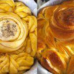 Εντυπωσιακή τρίχρωμη πορτοκαλόπιτα με κρέμα και σαντιγί Peanut Butter, Garlic, Dairy, Pasta, Cheese, Vegetables, Recipes, Food, Essen