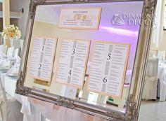 rozmieszczenie gości Diamond Decorations, Wedding 2015