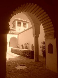 Patio del Aljibe de la Alcazaba. Málaga.