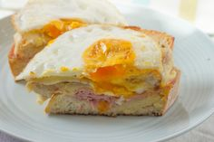 Cheese, ham and a runny egg yolk. Is there anything more perfect?