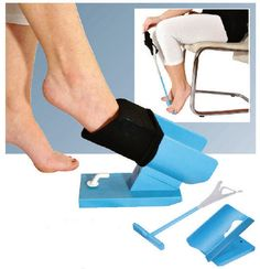 Easy On Easy Off Sock Aid Kit includes the easy off sock aid for removing socks, and an easy on sock aid for putting on socks. Easy on sock aid holds a sock open, allows user to put on socks without bending. Easy off sock handle pushes sock off. Adaptive Equipment, Medical Equipment, Handicap Equipment, Guillain Barre, Floor Molding, Shoe Horn, Assistive Technology, Medical Technology, Easy