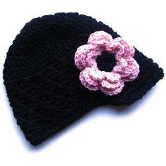 Baby Girl Hat Crochet Baby Hat Girls Crochet Visor by Karenisa, $22.00